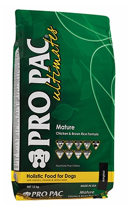 PRO PAC ULTIMATES  MATURE CHICKEN-BROWN RICE