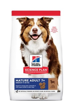 Hills canine Mature Adult Lamb & Rice