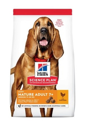 Hills canine Mature Adult Light with Chicken