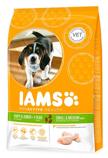 Iams Dog Puppy Small & Medium Csirke