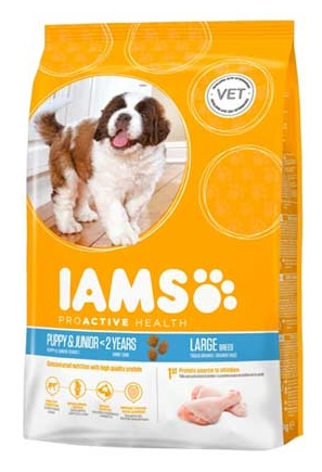Iams Dog Puppy large Csirke