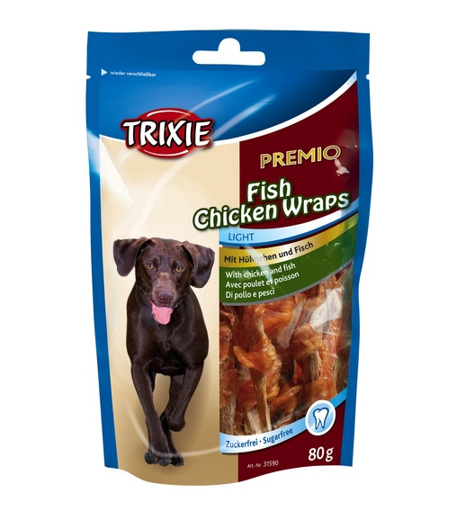 TRX31590 PREMIO Fish Chicken Wraps 80 gr