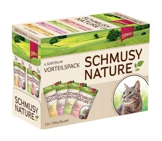 Schmusy Nature Adult  Multibox 12 x 100 gr