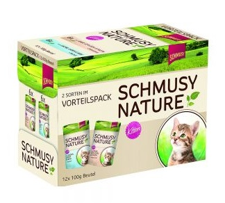 Schmusy Nature Kitten  Multibox 12 x 100 gr