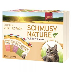 Schmusy Nature Flakes 12 x 100 gr