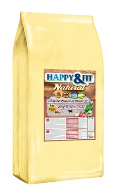 Happy&Fit Natural Adult Rind&Reis XL