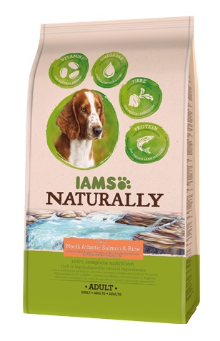 Iams Naturally Adult Dog Észak - Atlanti  Lazaccal
