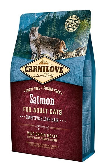 Carnilove Cat Adult Lazac – Sensitive Long Hair