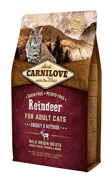 Carnilove Cat Adult Rénszarvas Energy Outdoor