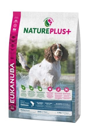 Eukanuba NaturePlus+ Adult Medium Dog lazac